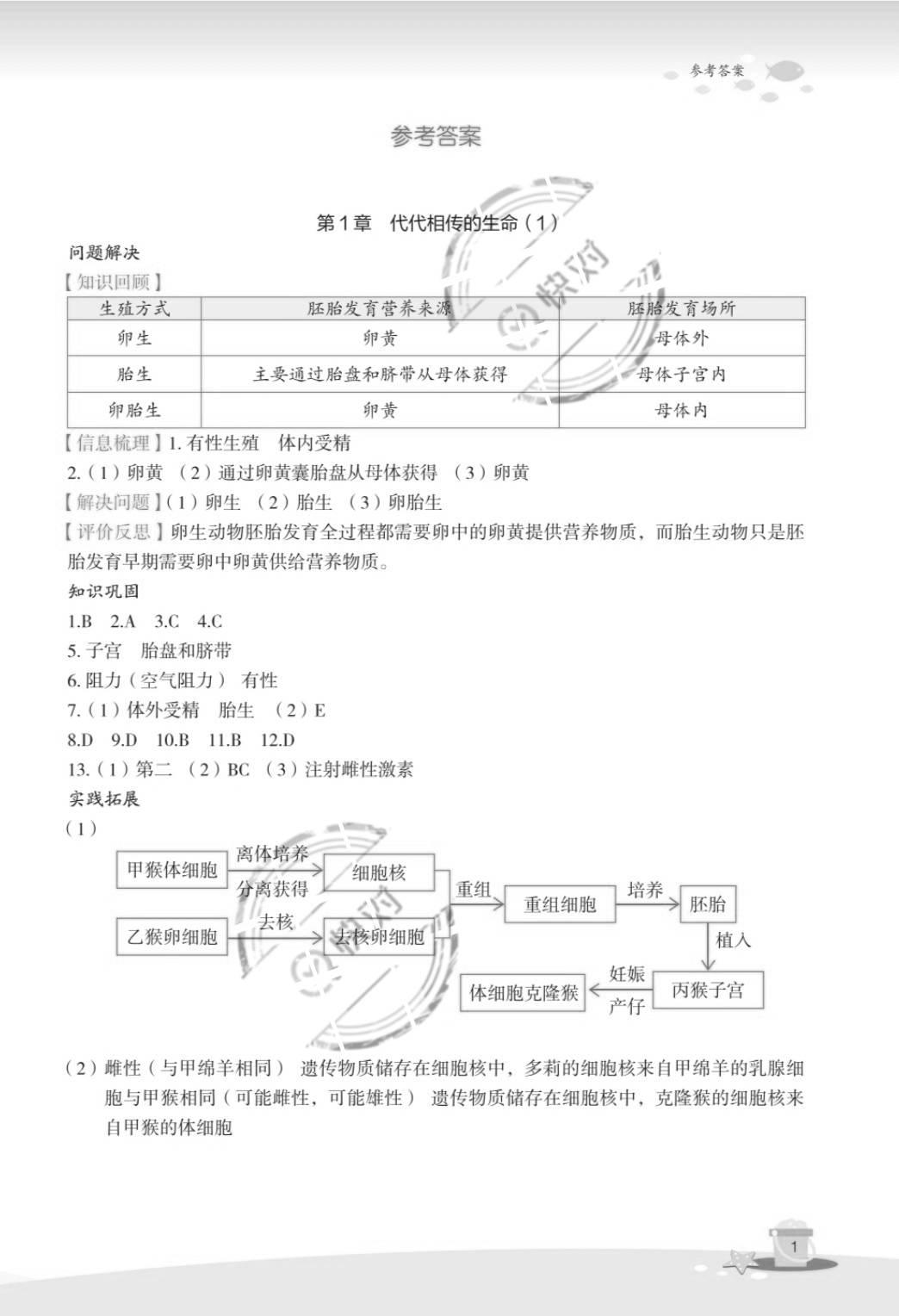 2020年快乐暑假玩转假期活动手册七年级科学通用版浙江教育出版社
